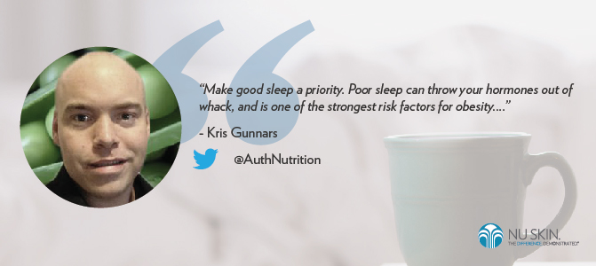 Make good sleep a priority.
